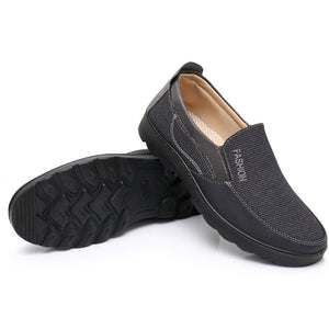 Large Size Men Old Peking Style Fabric Comfy Slip On Casual Shoes