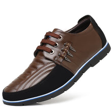 Load image into Gallery viewer, Men Genuine Leather Non-slip Splicing Large Size Soft Sole Casual Driving Shoes