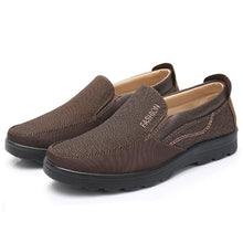 Load image into Gallery viewer, Large Size Men Old Peking Style Fabric Comfy Slip On Casual Shoes