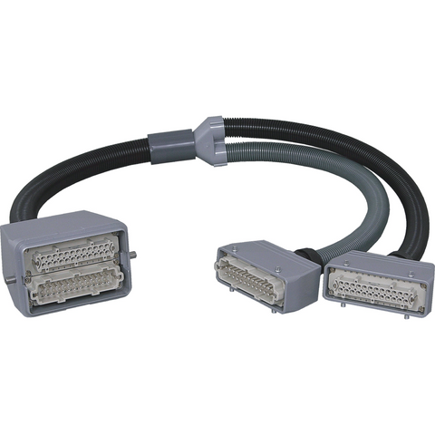 "CY-2612-Y-15 SPECIAL ""Y"" Cable to Connect a 2×24 HBE Mold with a Gammaflux® / or MSI/Moldflow/HUSKY type Controller - Plastec USA"
