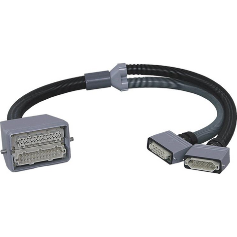 "CY-2612-YD-15 SPECIAL ""Y"" Cable to Connect a 2×24 HBE Mold with a DME® type Controller - Plastec USA"