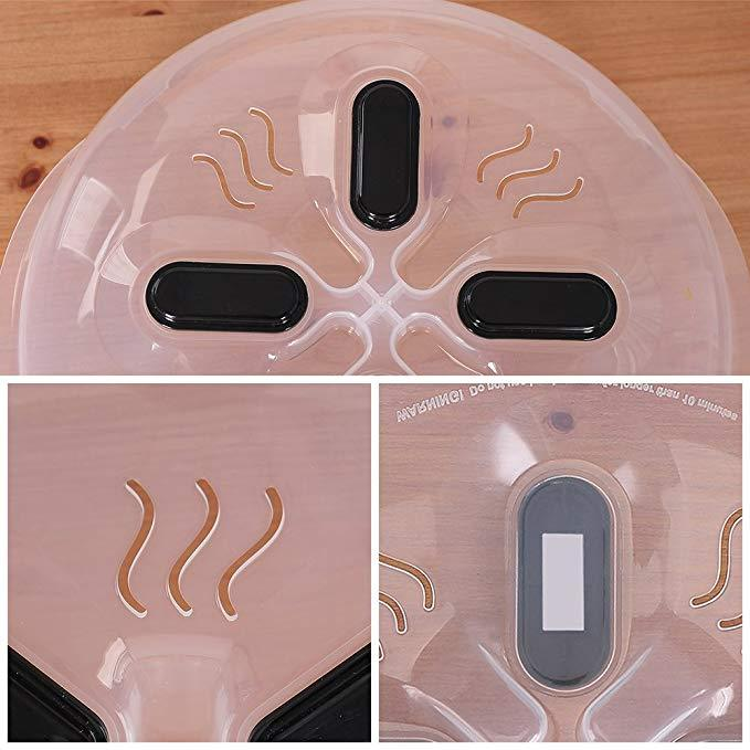 Food-grade Material-Protect Moisture Anti-sputter Microwave Plate Cover with Magnetic