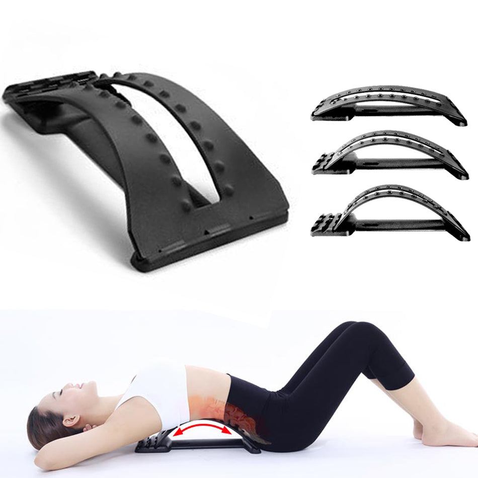 Back Massager Stretcher Lumbar spine relaxator cushion magnetic therapy massage spine correction vertebra relieve waist pain