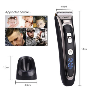 Professional Digital Hair Trimmer Rechargeable Electric Hair Clipper Men's Cordless Haircut Adjustable Ceramic Blade RFC-688B 49