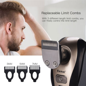 5 in 1 Multifunction Bald Head Shaver Washable Rechargeable Shaving Machine