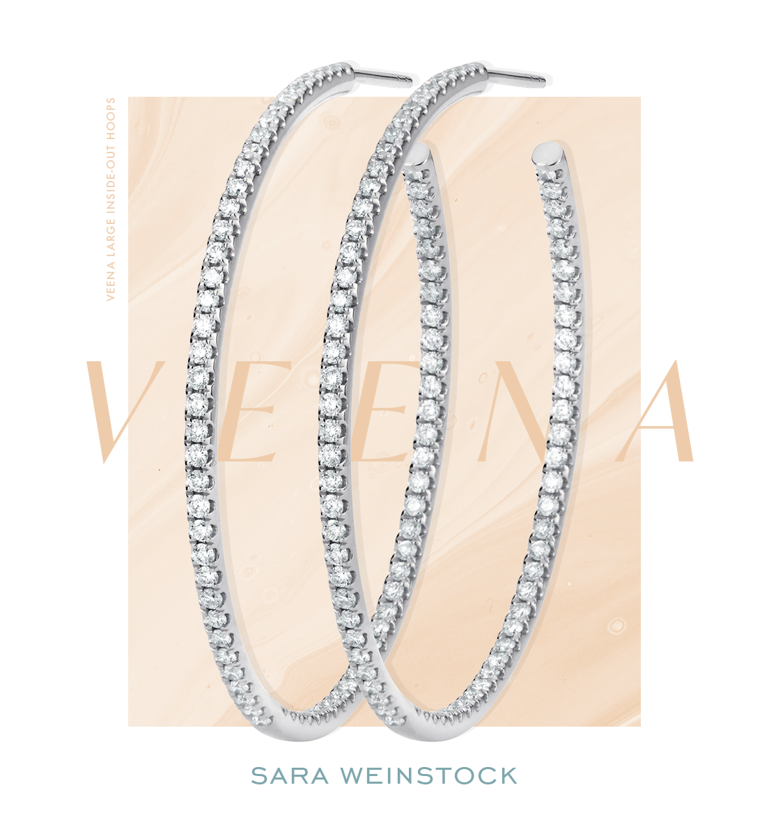 Veena Large Inside-Out Hoops