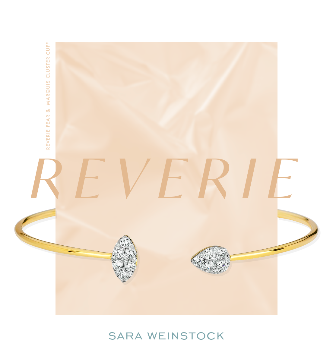 Reverie Pear and Marquis Cluster Cuff