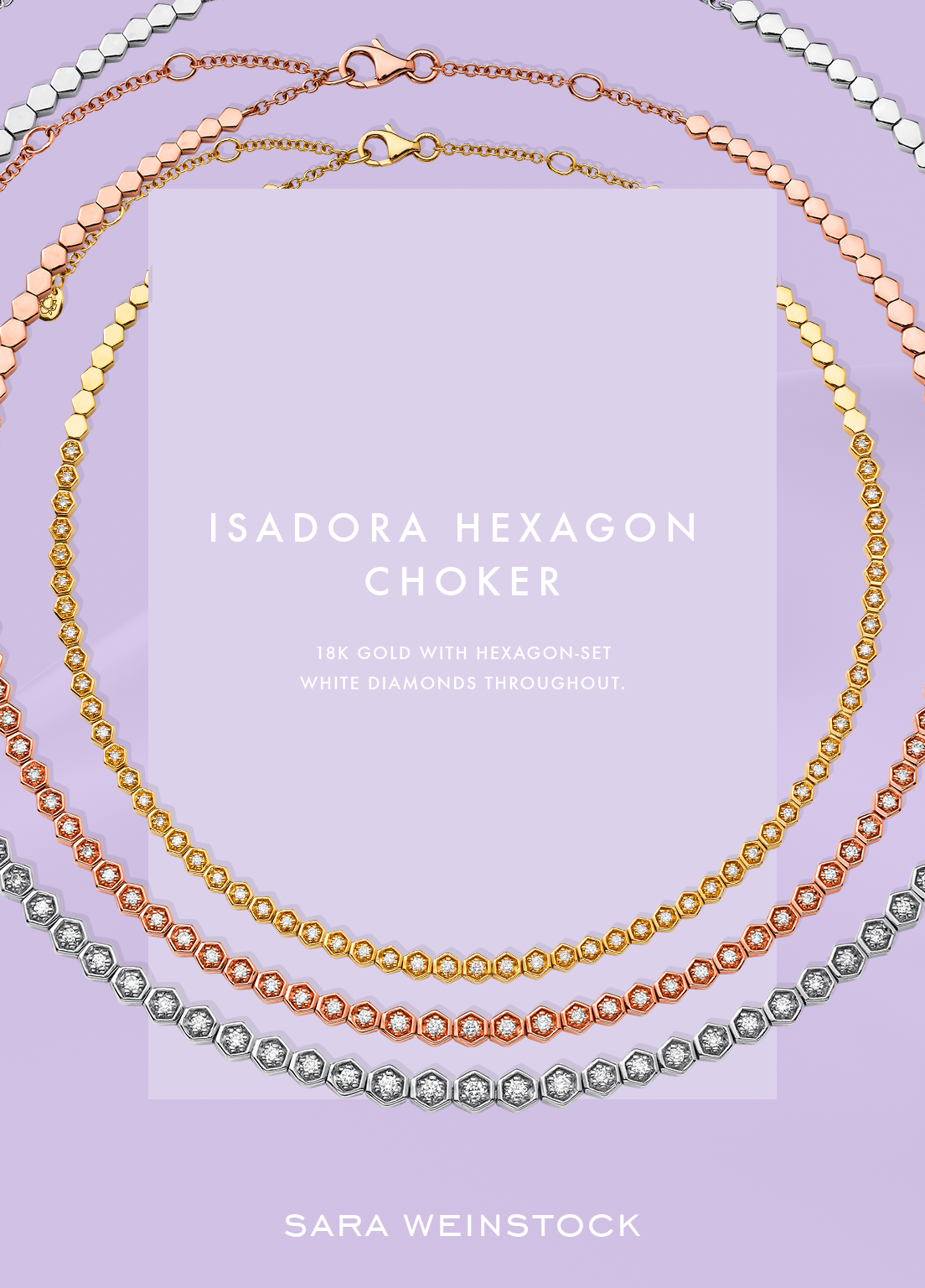 Isadora Hexagon Choker