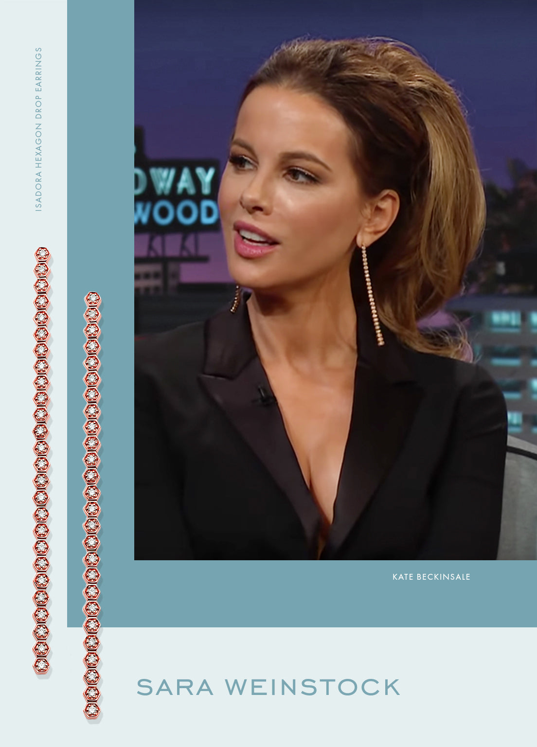 Kate Beckinsale on The Late Late Show with James Corden