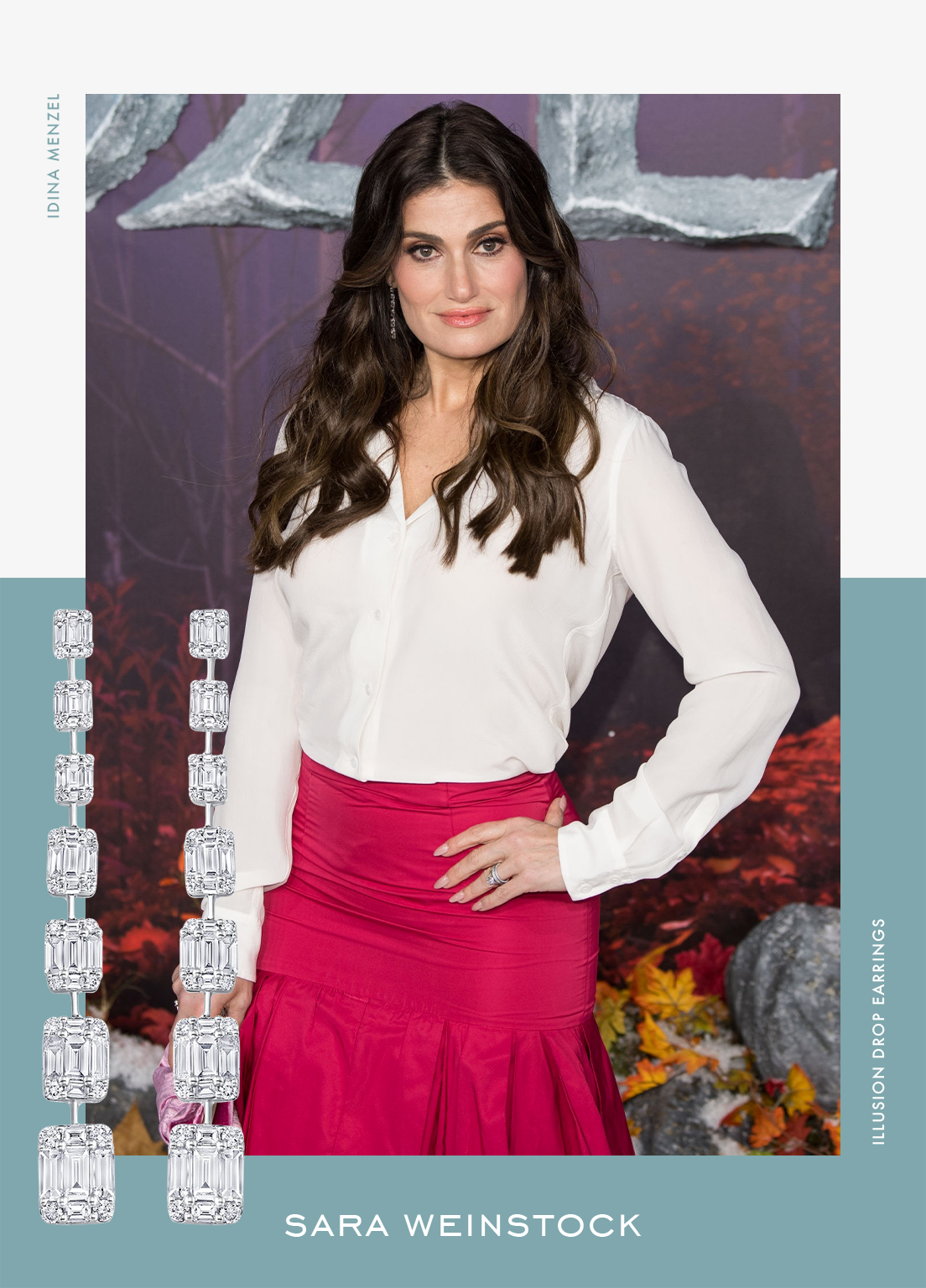 Idina Menzel in Sara Weinstock at the European premiere of Frozen 2 in London