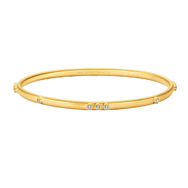 16 Diamond Bangle-Bracelets-Sara Weinstock Fine Jewelry