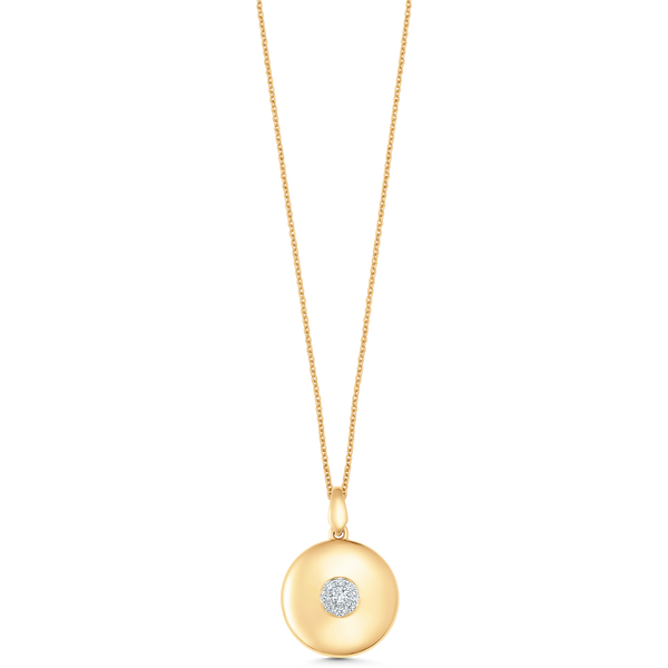 Aurora Illusion Small Round Pendant Illusion Necklace