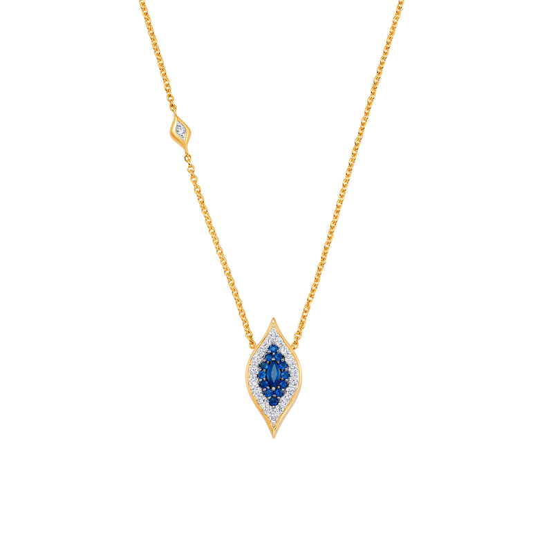 Donna Large Blue Sapphire Necklace - Sara Weinstock Fine Jewelry