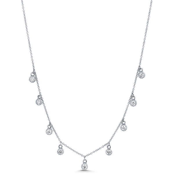 Dujour Floret 9 Diamond Necklace - Sara Weinstock Fine Jewelry