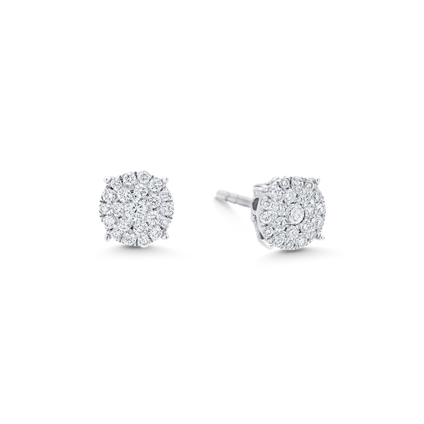 Illusion Round Diamond Stud Earrings