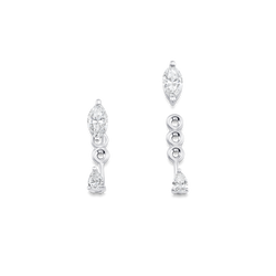 Purity Marquis Pear Diamond Ear Jacket - Sara Weinstock Fine Jewelry