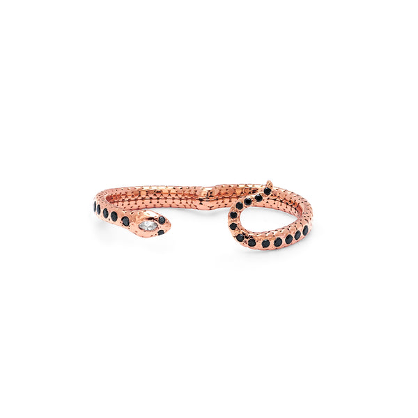 SW Archive Serpent Double Finger Ring - Sara Weinstock Fine Jewelry