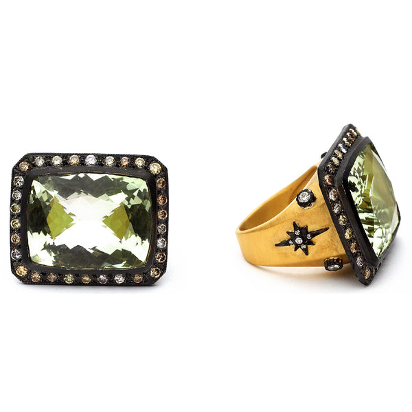 SW Archive Quartz Starburst Statement Ring - Sara Weinstock Fine Jewelry