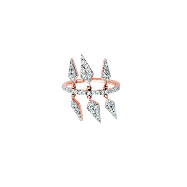 SW Archive 6 Marquis Charm Ring - Sara Weinstock Fine Jewelry