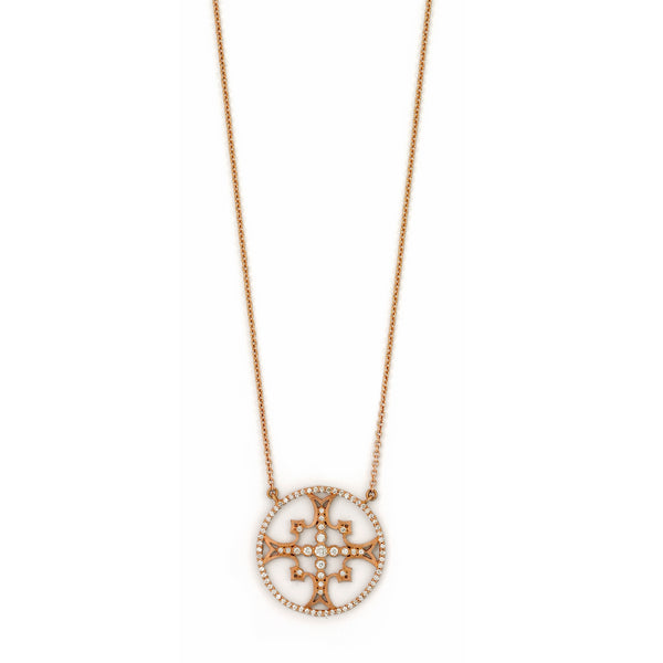SW Archive French Lace Maltese Cross Pendant - Sara Weinstock Fine Jewelry