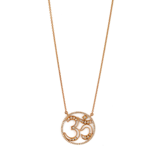 SW Archive French Lace Om Pendant - Sara Weinstock Fine Jewelry