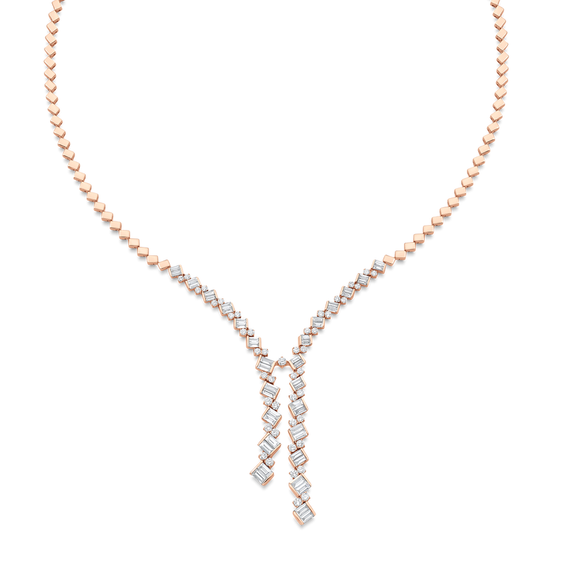Taj Braided Diamond Drop Necklace