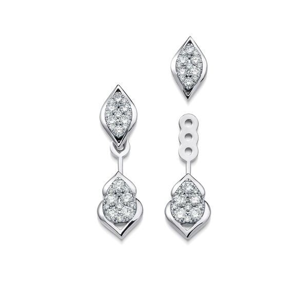Reverie Diamond Cluster Ear Jackets