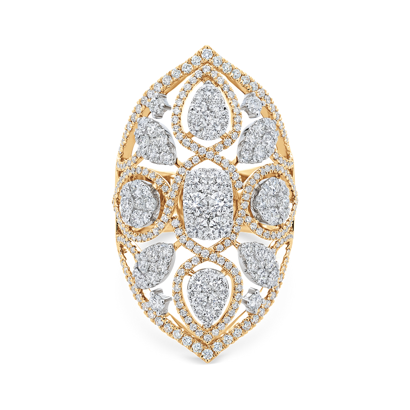 Reverie Couture Shield Ring - Sara Weinstock Fine Jewelry
