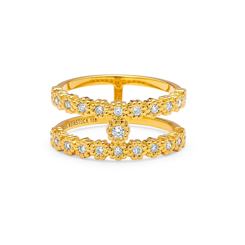 SW Archive Floret Double Layer Ring Ring - Sara Weinstock Fine Jewelry