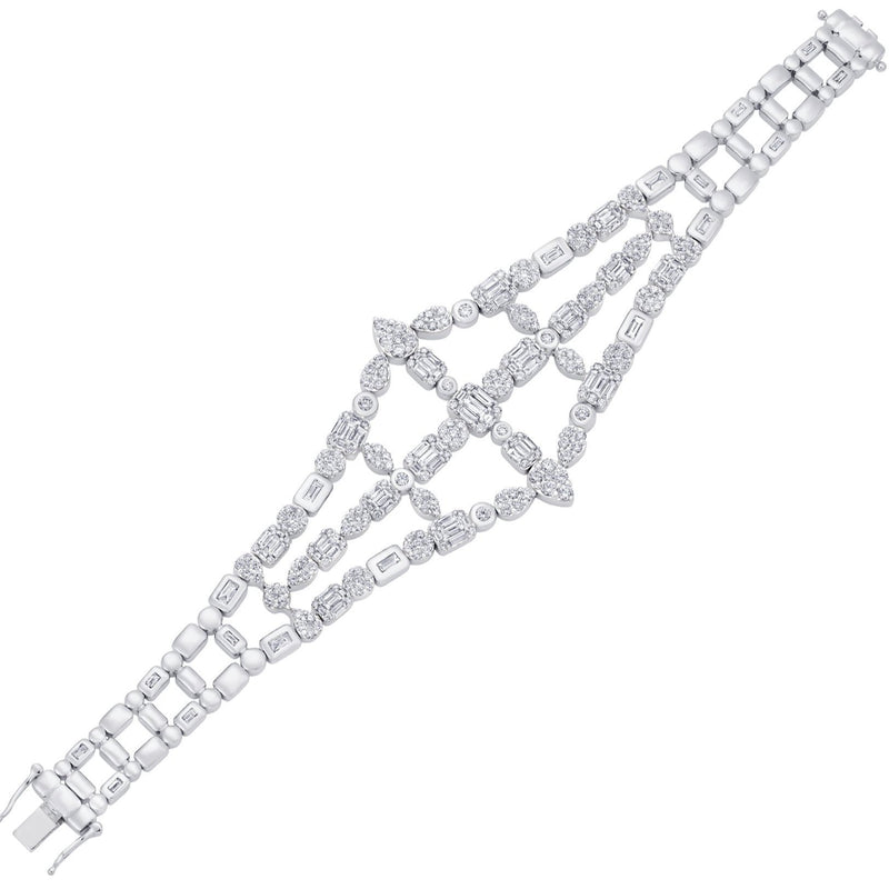 Illusion 3 Row Statement Bracelet - Sara Weinstock Fine Jewelry