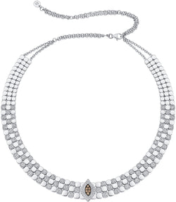 Isadora Brown Diamond Statement Choker-Necklaces-Sara Weinstock Fine Jewelry