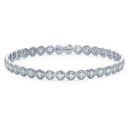 Round Bezel Bangle - Sara Weinstock Fine Jewelry