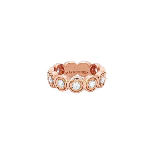 Round Bezel Ring | Shop 18k Gold and Diamond Jewelry Rings | Rose Gold | Sara Weinstock Fine Jewelry