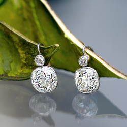 SWX Private Collection Cushion Drop Earrings - Sara Weinstock Fine Jewelry