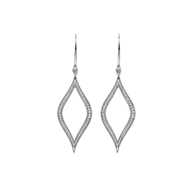 Veena Marquis Earrings | Shop 18k Gold and Diamond Jewelry Statement Earrings | White Gold | Sara Weinstock Fine Jewelry