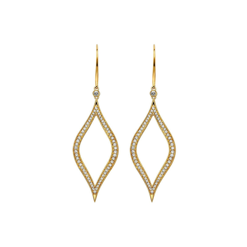 Veena Marquis Earrings | Shop 18k Gold and Diamond Jewelry Statement Earrings | Yellow Gold | Sara Weinstock Fine Jewelry