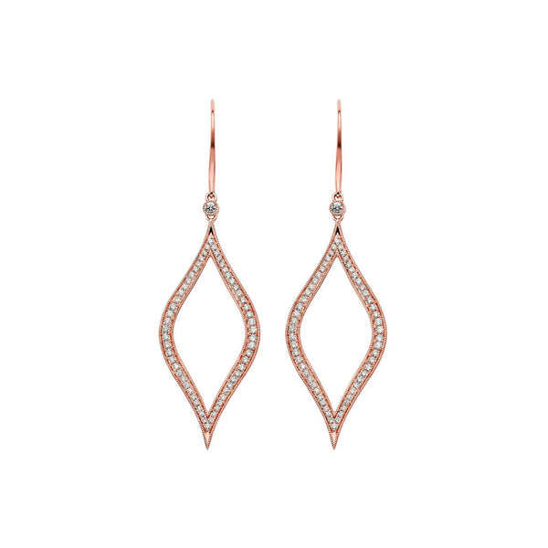 Veena Marquis Earrings | Shop 18k Gold and Diamond Jewelry Statement Earrings | Rose Gold | Sara Weinstock Fine Jewelry