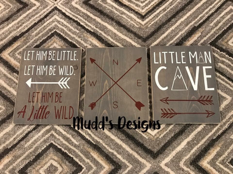 Boys Nursery Wall Decor Little Man Cave