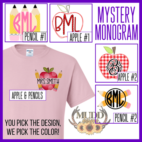 Teacher Mystery Monogram