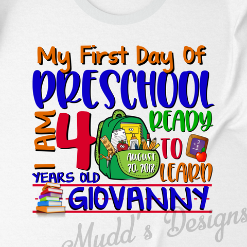 Back to school Shirt-personalized