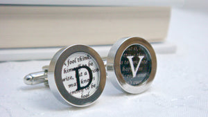 Mens Gift, Cufflinks Personalised, Boyfriend Gift, Custom Cuff links, Initials Cufflinks, Corporate Gifts, New Job Gift, Shakespeare quote