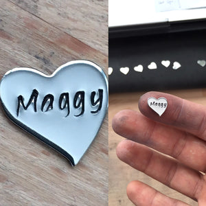 Additional Heart Charm Inserts, Floating Charms, Personalised Name plates for Floating Locket Necklace, Family Names, Children Names
