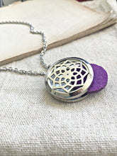 Load image into Gallery viewer, Aromatherapy Necklace, Essential Oil Necklace, Essential Oil Diffuser Necklace, Stainless Steel Locket Necklace, Meditation Gifts Aromatizer