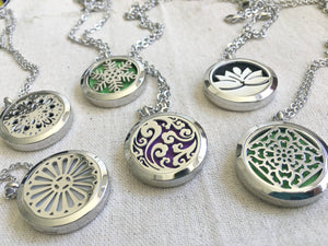 Aromatherapy Necklace, Essential Oil Necklace, Essential Oil Diffuser Necklace, Natural Remedies Healing Necklace, Silver Filigree Necklace
