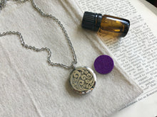 Load image into Gallery viewer, Aromatherapy Necklace, Essential Oil Necklace, Essential Oil Diffuser Necklace, Natural Remedies Healing Necklace, Silver Filigree Necklace