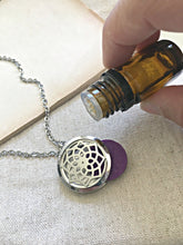 Load image into Gallery viewer, Aromatherapy Necklace, Essential Oil Necklace, Essential Oil Diffuser Necklace, Scent Locket Diffuser Natural Remedies Healing Necklace