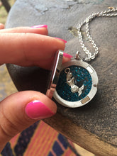 Load image into Gallery viewer, Floating Locket Necklace, Mermaid gifts, Mermaid Necklace Silver, Little Mermaid Gifts, Little Girls Jewelry, Mermaid Charm Floating Charm