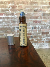 Load image into Gallery viewer, Inner Peace Roll on Balm, Healing Gift, Essential Oils Roller Bottle, Mind Clearing Roller Ball Pure Essential Oil Blend Lapis Lazuli Roller