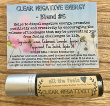 Load image into Gallery viewer, Clear Negativity, Roll on Balm, Healing Gift, Essential Oils Roller Bottle, Mind Clearing Roller Ball Pure Essential Oil Blend, Rollon