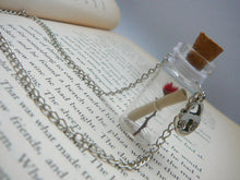 Load image into Gallery viewer, Friendship Gift for Women, Message in a Bottle Necklace, Glass Bottle Necklace, Secret Message Necklace, Anniversary Gift, Proposal Gifts